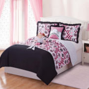 Dollie & Me Lana Reversible Polka-Dot Comforter Set with Doll