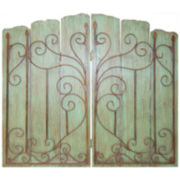 Metal Gate Wall Decor