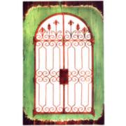 Antiqued Door Wall Decor