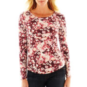 Liz Claiborne® Long-Sleeve Thermal Top - Petite