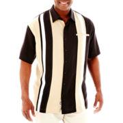 Nat Nast® Short-Sleeve Drop-In Silk-Tencel® Shirt–Big & Tall