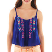 Arizona Button-Front Crop Cami