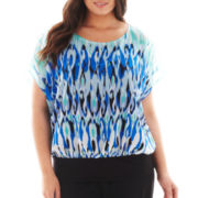 Alyx® Short-Sleeve Print Top - Plus