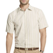 Van Heusen® Short-Sleeve Textured Stripe Shirt