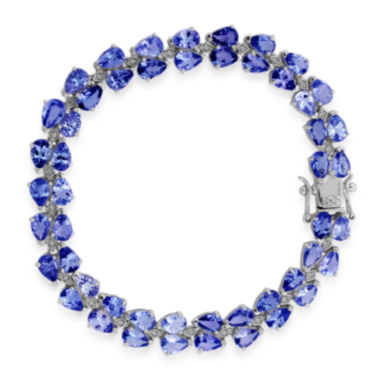 jcpenney.com | LIMITED QUANTITIES  Pear-Shaped Genuine Tanzanite and White Topaz Sterling Silver Bracelet