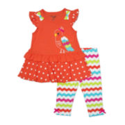 Nanette Baby Parrot Top and Leggings - Toddler Girls 2t-4t