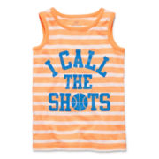 Okie Dokie® Striped Graphic Tank Top - Toddler Boys 2t-5t