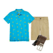 Arizona Print Polo, Chino Short or Belt - Boys 8-20