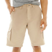 Burnside® Solid Microfiber Cargo Shorts