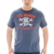 Gas Monkey Mechanic Graphic Tee-Big & Tall