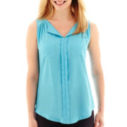Worthington® Sleeveless Tunic Shirt