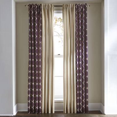 Studio™ Twist Rod-Pocket/Back-Tab Curtain Panel