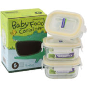 Glasslock® Baby Mini 6-pc. Rectangular Container Set