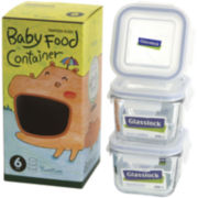 Glasslock® Baby Mini 6-pc. Square Container Set