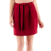 MNG by Mango® Pleated Tie-Front Skirt