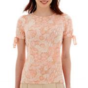 Worthington® Short-Sleeve Blouse