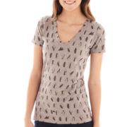 Arizona Short-Sleeve Print V-Neck Tee