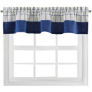 Bistro Check Rod-Pocket Tailored Valance