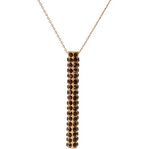 RODRIGO-BRAVE Black Crystal Pendant Necklace