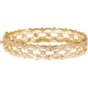 "telio! by Doris Panos Gold-Tone ""Lolita"" Faceted Bangle"