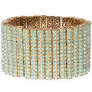 RODRIGO-BRAVE Opalescent Mint Crystal Bracelet