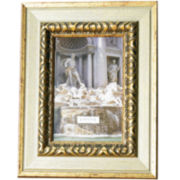Carved Antiqued Silver- and Gold-Tone Picture Frame