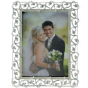 Silver-Plated Intertwining Hearts Picture Frame