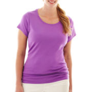 jcp™ Short-Sleeve Crewneck Tee - Plus