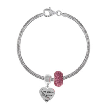 jcpenney.com | Forever Moments™ Love you to the Moon 3-pc. Bracelet and Beads Set