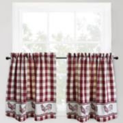Park B. Smith® Provencial Rooster 2-Pack Rod-Pocket Window Tiers