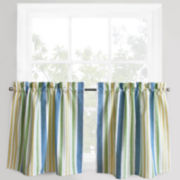 Park B. Smith® Cape Cod Striped Rod-Pocket Window Tiers