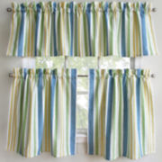 Park B. Smith Cape Cod Striped Rod-Pocket Kitchen Curtains