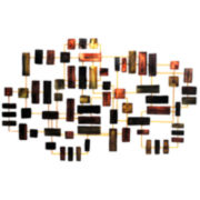 Abstract Bricks Metal Wall Decor