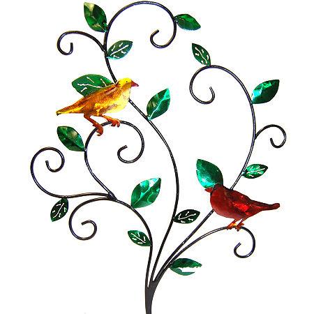 Bird Branch Metal Wall Decor