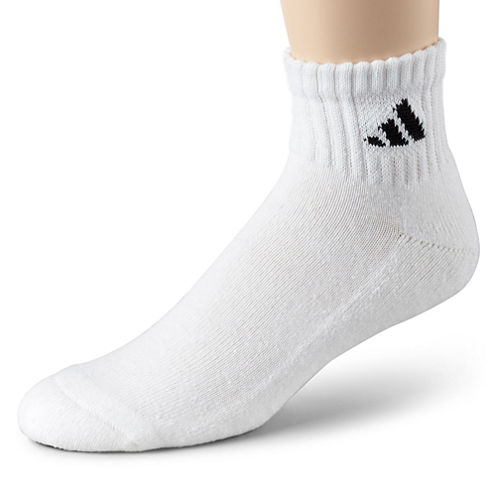 adidas® Mens 6-pk. Athletic Cushioned Quarter Socks