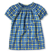 Arizona Smocked Print Top - Girls 6-16 and Plus