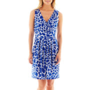 Liz Claiborne Sleeveless Faux-Wrap Dress