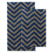 Home Expressions™ 2-pc. Chevron Microfiber Bath Rug Set