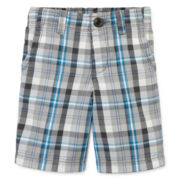 Arizona Plaid Chino Shorts - Toddler Boys 2t-5t