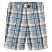 Arizona Plaid Chino Shorts - Toddler Boys 2t-5t