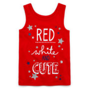 Okie Dokie® Americana Tank Top - Toddler Girls 2t-5t