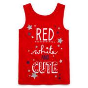 Okie Dokie® Americana Tank Top - Toddler Girls 2t-5t
