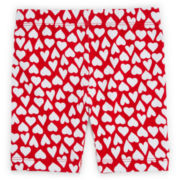 Okie Dokie® Heart-Print Bike Shorts - Toddler Girls 2t-5t