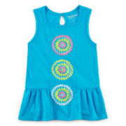 Arizona Puff-Print Peplum Tank Top - Preschool Girls 4-6x