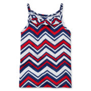 Okie Dokie® Americana Ruffle Tank Top - Preschool Girls 4-6x