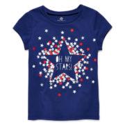 Okie Dokie® Americana Graphic Tee - Toddler Girls 2t-5t