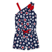 Okie Dokie® Americana Bow Romper - Preschool Girls 4-6x
