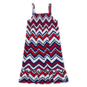 Okie Dokie® Americana Chevron Dress - Preschool Girls 4-6x