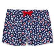 Okie Dokie® Americana Easy Shorts - Preschool Girls 4-6x