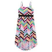 Total Girl® High-Low Striped Skater Dress - Girls 7-16